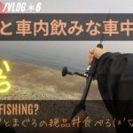 【車中泊釣り】What is fishing?車内でひとり飲みと、朝マズメ?からお魚の姿を見たくて釣りをした :vlog*6