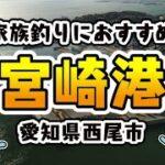 【家族におすすめ】愛知県西尾市「宮崎港」の海釣りマップ