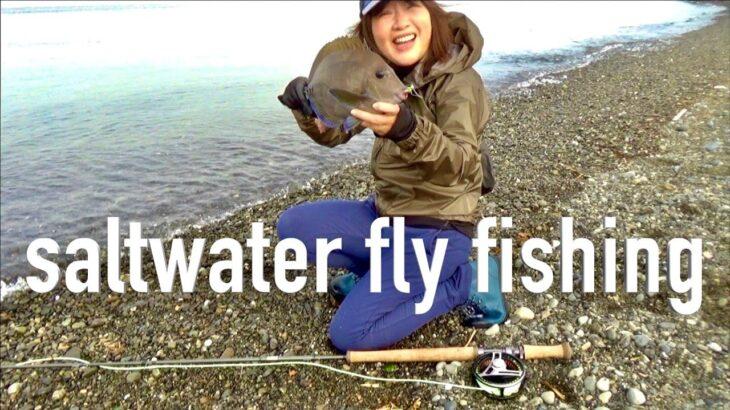 お気に入りフライフィッシング道具 ダブルハンド ロッドで 海釣り Salt Fly Fishing in Japan