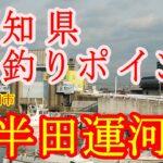 【愛知県 海釣り ポイント 】半田運河:愛知県半田市(撮影:2021年03月)。。。シーバスもいるよ。小ボラが多数いる。