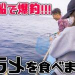 【船釣り】五島列島の海で真鯛や根魚が爆釣!/脂ノリノリの極上のヒラメを食べます。