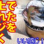 船釣りでいいサイズの真アジをゲットしたので、その場で焼き魚にして食ってみた