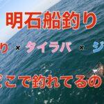 【タコ釣り】【タイラバ】5月上旬、雨上がりのタコ釣りからのタイラバからのジギング!明石の船釣りどこが釣れるの?!