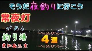 夜釣りがしやすい常夜灯がある釣り場紹介/愛知県&三重県/シーバス・クロダイのルアー釣り