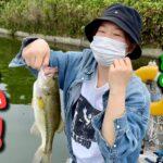 海釣りガールとバス釣り!大阪南部水藻フィッシングセンター