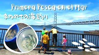 海釣りデビュー/Primera pesca en el mar