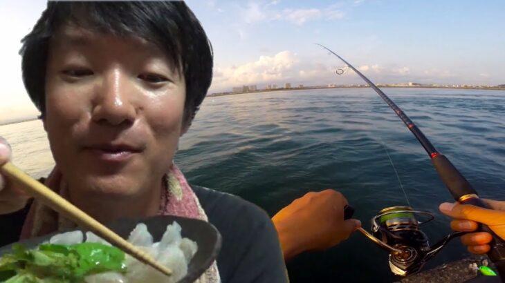 海釣り公園でちょい釣りで大物が…