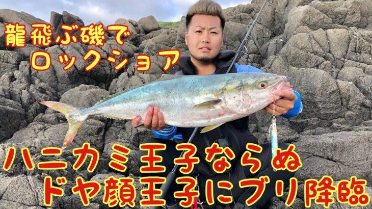 龍飛ぶ磯でロックショア ブリ 青物 青森県は津軽海峡